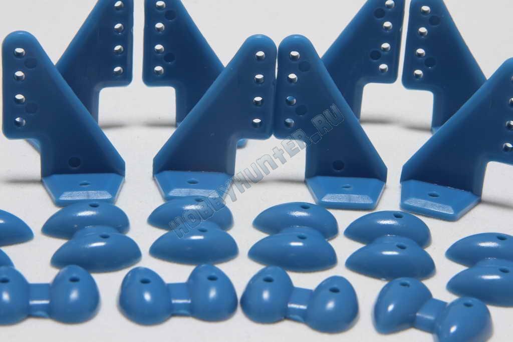 Кабанчики 18x27 (4 отв) - Голубые (10 штук)