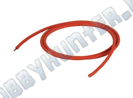 Провод 18AWG красный  soft  silicone wire, red or black,0.08*165strands