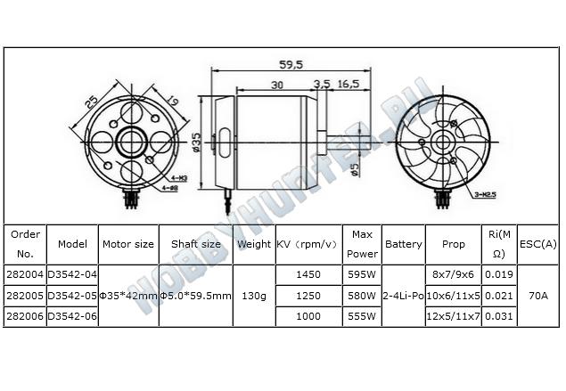 DYS D3542-6 (1100KV)