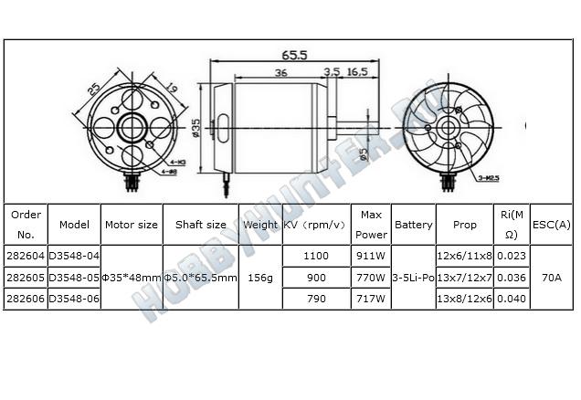 DYS D3548-4 (1100KV)