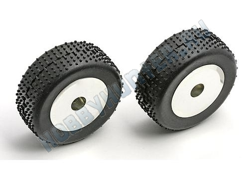 RC18 Narrow Dish Wheel, chrome, mounted