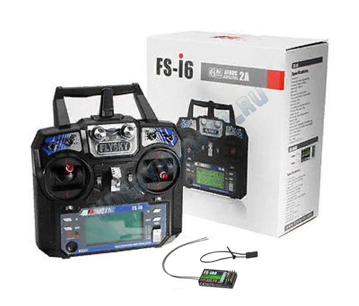 Радиоаппаратура FlySky i6 с приемником iA6 (6 каналов) 2.4гГц