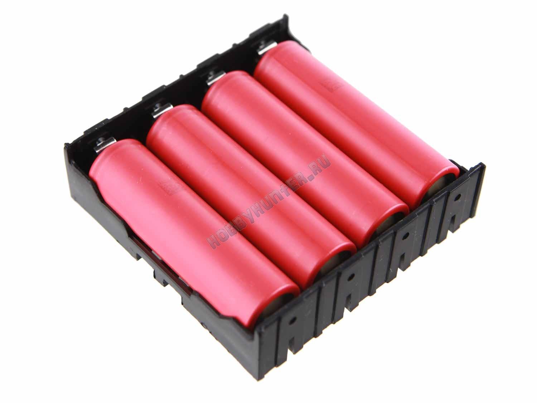 Держатель для аккумуляторов 18650 (четыре ячейки)