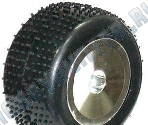 Колеса в сборе 1/18 -Mini Pin/ chrome wheels (2шт)