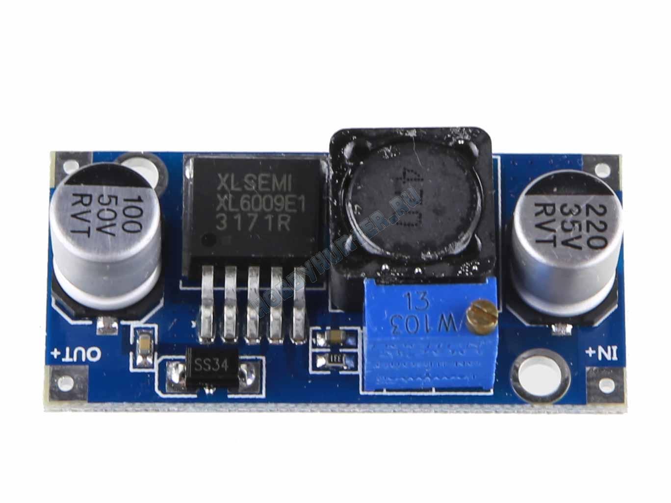 Повышающий DC–DC преобразователь XL6009