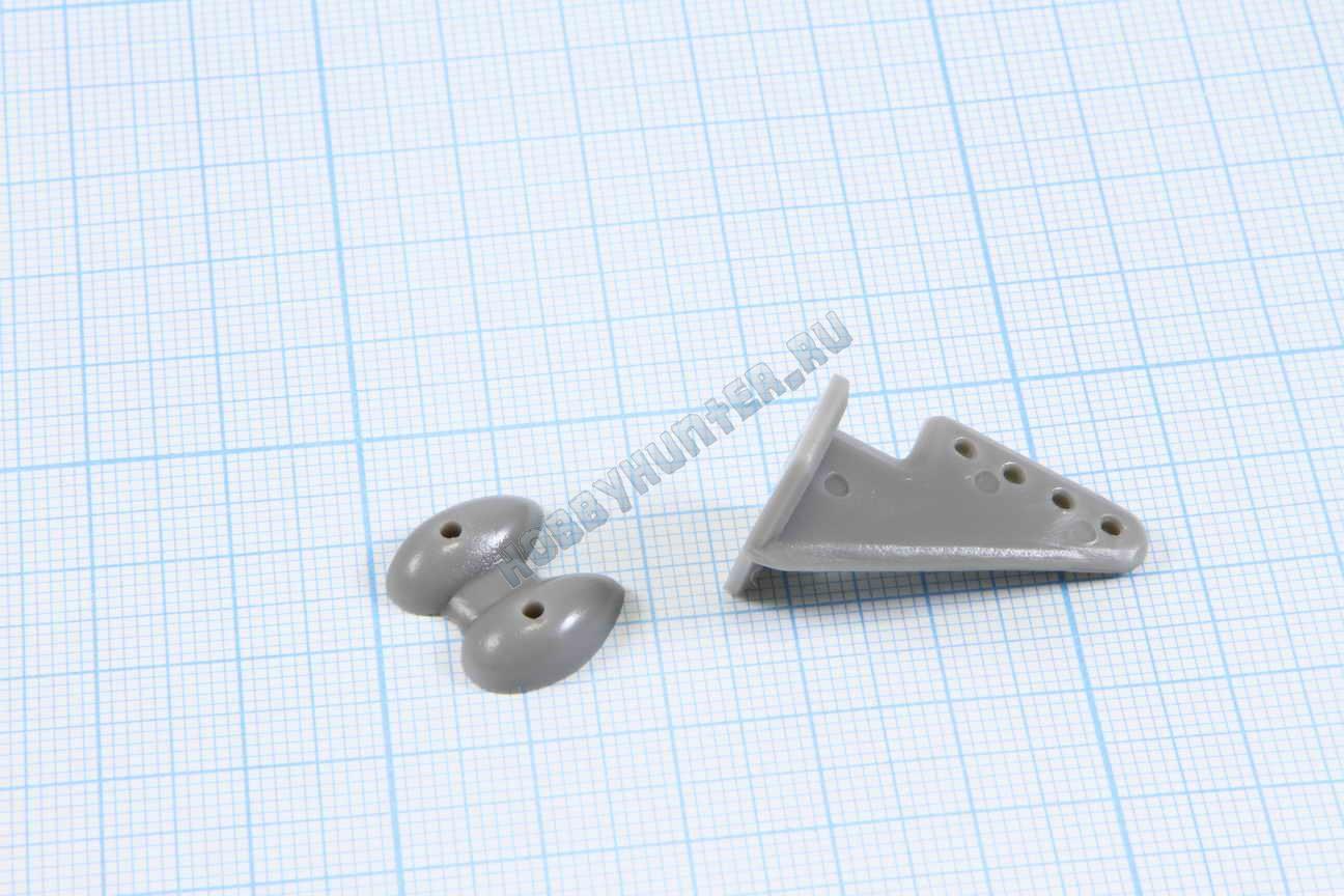 Кабанчики 18x27 (4 отв) - Серые (10 штук)
