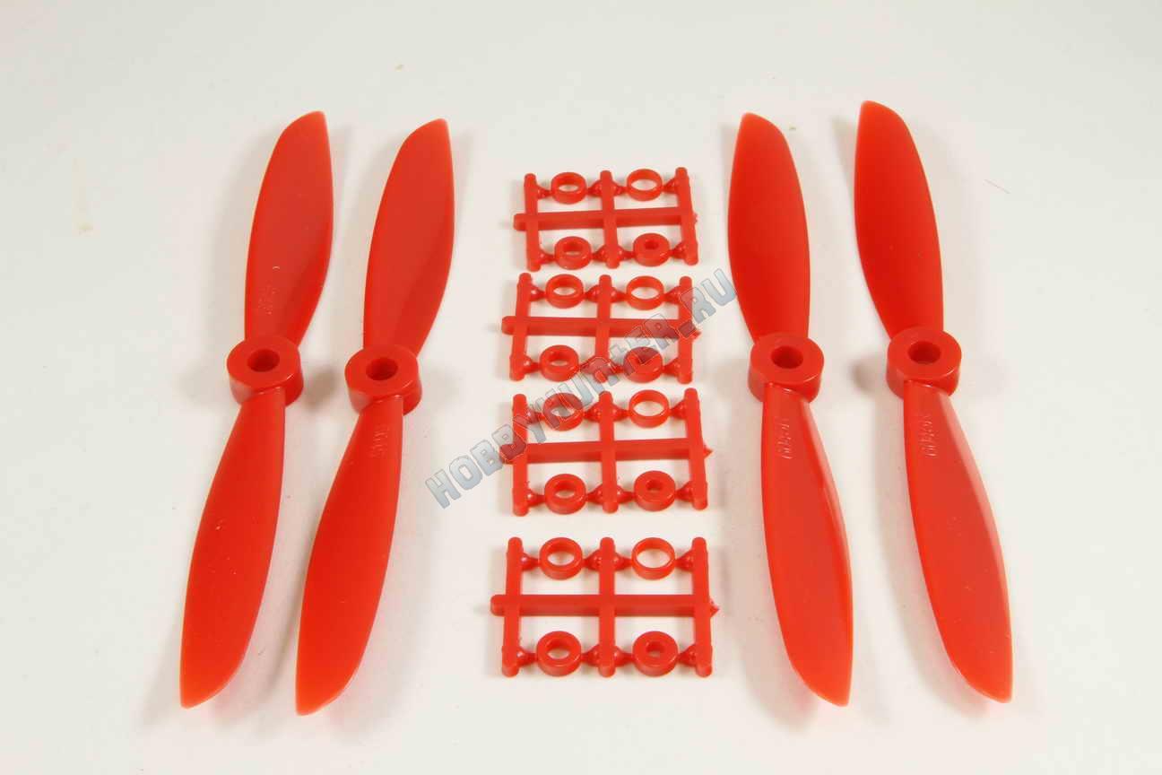 Пропеллер 6045x2 + 6045Rx2 (Красные)
