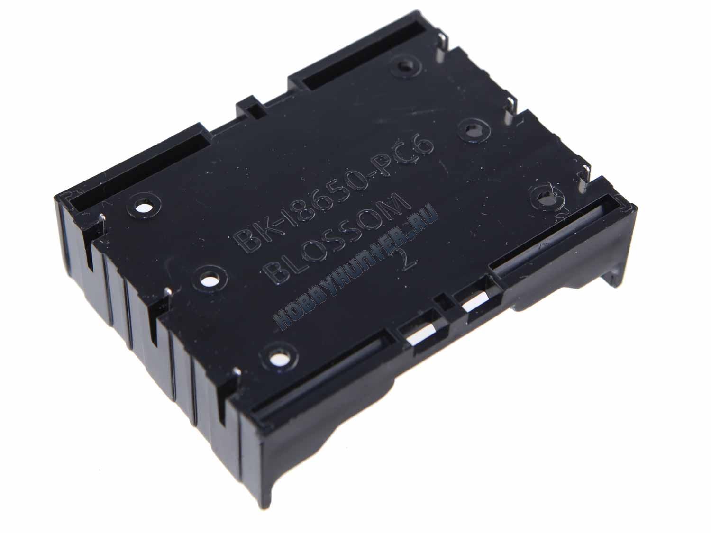 Держатель для акуумуляторов 18650 (три ячейки)