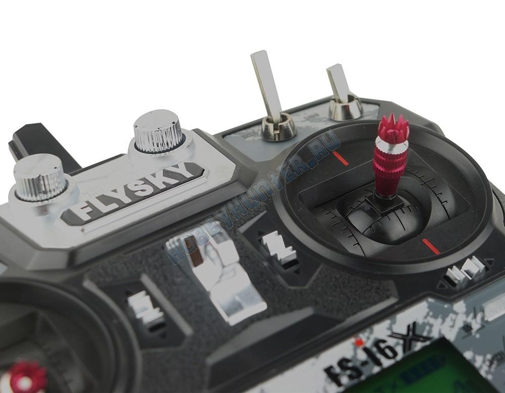 Радиоаппаратура FlySky i6x с приемником iA6B (6 каналов) 2.4гГц с кабелем для софта