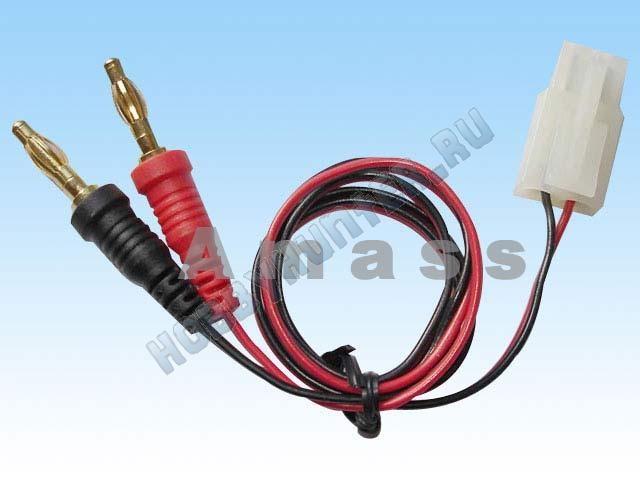 Кабель зарядки TAMIYA --> to 4mm banana plug (16awg silicon wire 30cm)