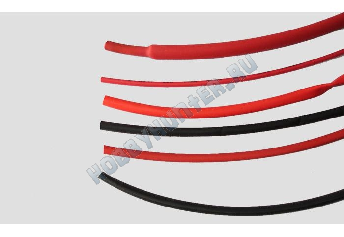 Термоусадочная трубка 2мм Black (1m)