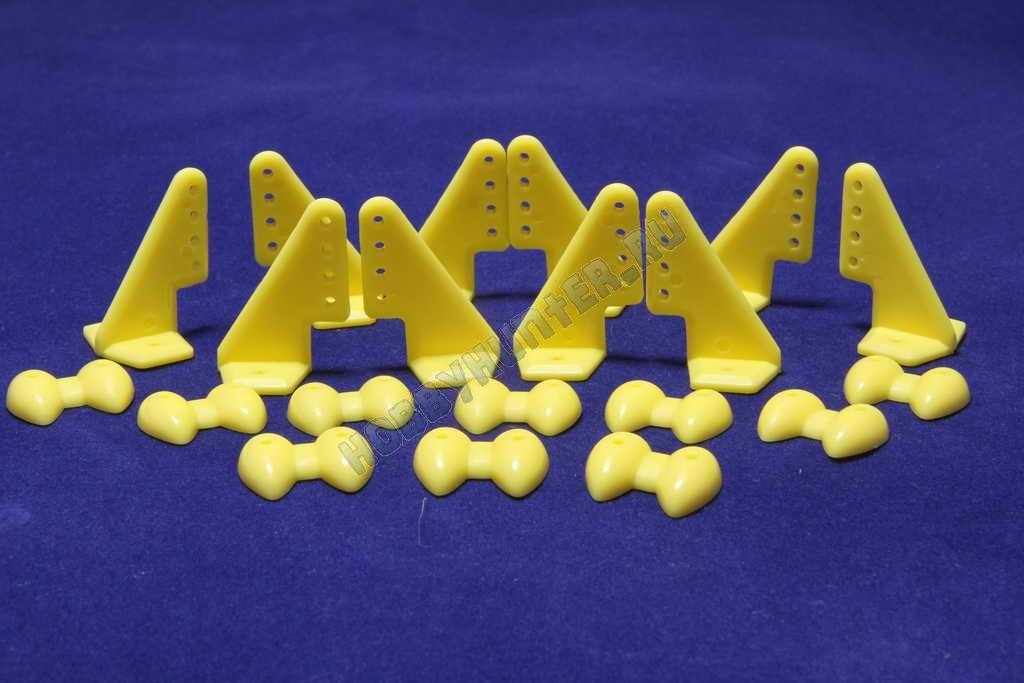 Кабанчики 18x27 (4 отв) - Желтые (10 штук)