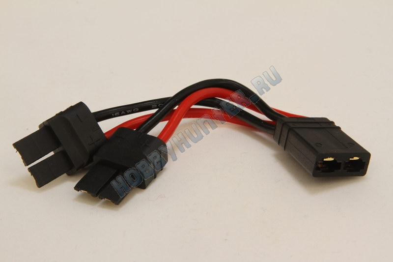 TRX plug battery harness for 2 packs in Parallel