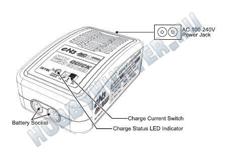 Зарядное устройство SKYRC EN3 (EN20) - NiMH/NiCd (220V 20W C:3A) 4-8S