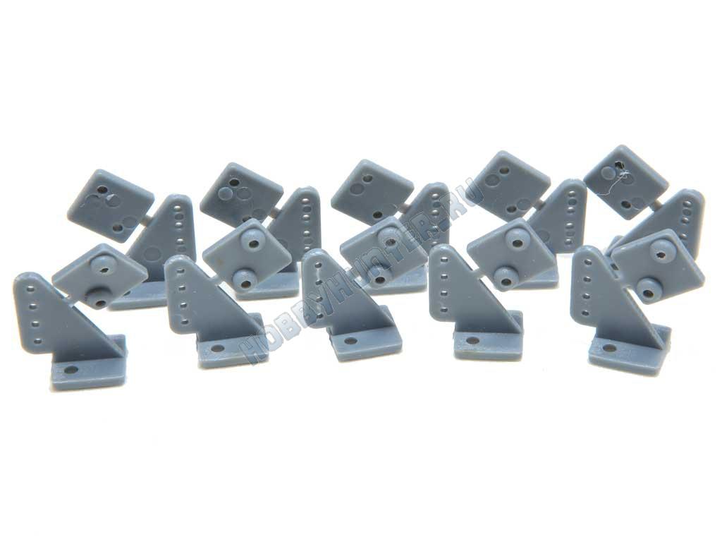 Кабанчики 20x16мм - Серые (10 штук)