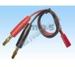 Кабель зарядки (female JST to 4mm banana plug / silicon w...