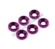 Шайбы конические M3 (6шт) - Purple