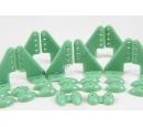 Кабанчики 18x27 (4 отв) - Зеленые (10 штук)
