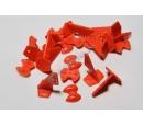 Кабанчики 18x27 (4 отв) - Красные (10 штук)
