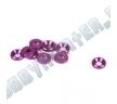 Шайба потайная 4 мм аннодированная, Purple (10)