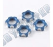 Гайки колес 1/8 - V2 Wheels Nuts 1.00mm Thread - Blue (4шт)
