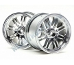 Диски трак 1/8 - 8 SPOKE SATIN CHROME (83X56MM/ HEX14) 2шт