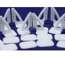 Кабанчики 18x27 (6 отв) - Белые (10 штук)