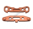 Alum. Rear Arm Mount (Copper): RC8