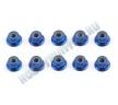 Гайки с фланцем контрящиеся - FT Blue 4mm  (10шт)