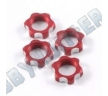 Гайки колес 1/8 - V2 Wheels Nuts 1.25mm Thread - Red (4шт)