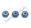 Гайки 8-32 LP LOCKNUTS BLUE (3шт)