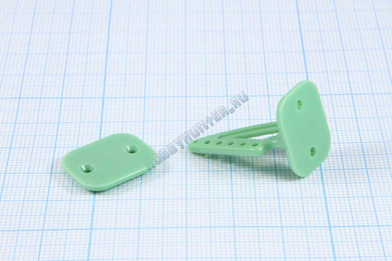 Кабанчики 18x27 (6 отв) - Зеленые (10 штук)