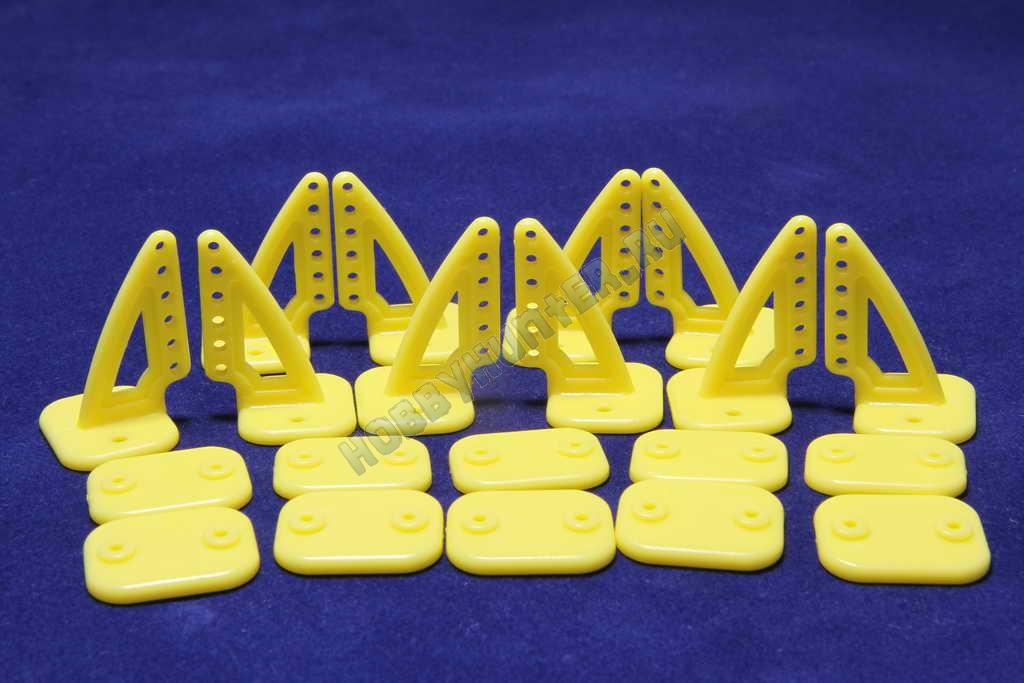 Кабанчики 18x27 (6 отв) - Желтые (10 штук)
