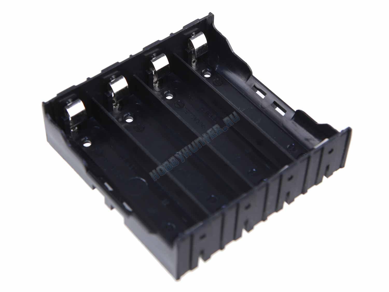 Держатель для акуумуляторов 18650 (четыре ячейки)